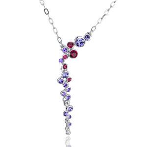 Колье «Фиалка» с фиолетовыми кристаллами Сваровски