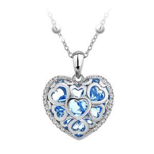 Кулон «Каменное сердце» с чешскими кристаллами
