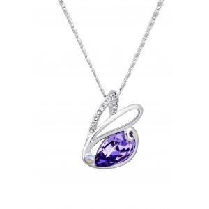 Кулон «Зайчик» с фиолетовым кристаллом Сваровски