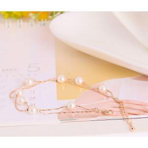 Браслет «Жемчужные нити», покрытие - золото