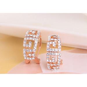 Серьги «Греческие мотивы» с австрийскими кристаллами, покрытие - золото