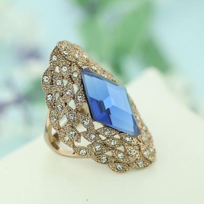 Кольцо «Маркиза» винтажное с австрийскими кристаллами