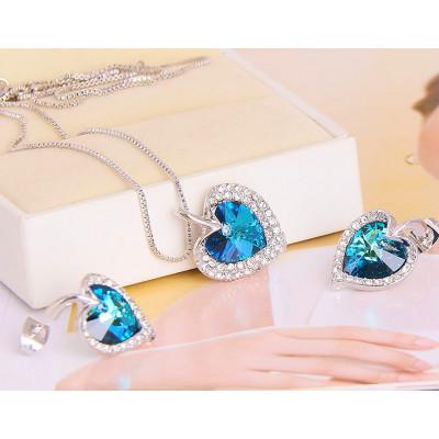 Комплект «Джульетта» с кристаллами Сваровски, покрытие - родий