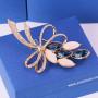 Брошь «Комплимент» с синими кристаллами Сваровски и опалами