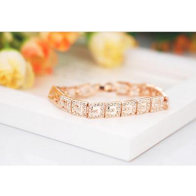 Браслет «Греческие мотивы» с австрийскими кристаллами, покрытие-золото