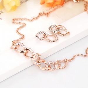 Комплект «Золотые цепи» с австрийскими кристаллами