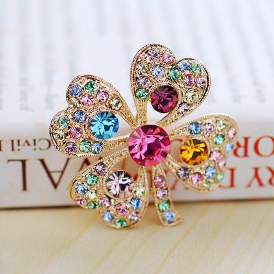 Брошь «Весна» с австрийскими кристаллами