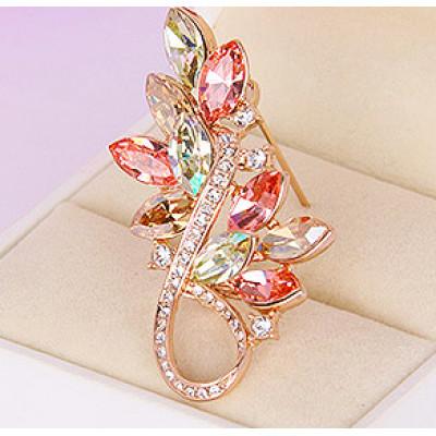 Брошь «Золотая осень» с кристаллами Swarovski