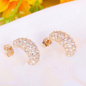 Серьги «Снегопад» с австрийскими кристаллами, покрытие - золото