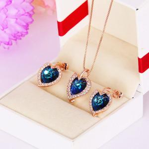 Комплект «Джульетта» с кристаллами Сваровски, покрытие-золото