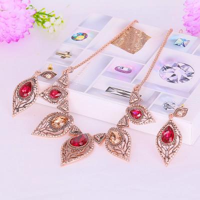 Комплект «Гранатовый» с кристаллами Сваровски