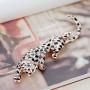 Брошь Леопард с эмалью и австрийскими кристаллами
