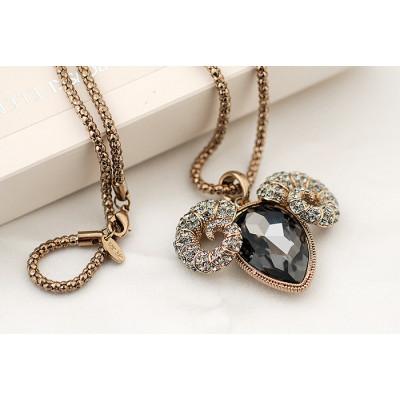 Кулон «С характером» с черным австрийским кристаллом
