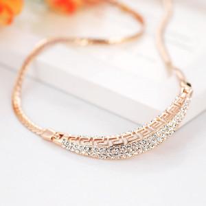 Колье «Афина» с австрийскими кристаллами, покрытие - золото