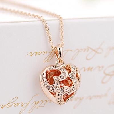 Кулон «В моем сердце» с австрийскими кристаллами