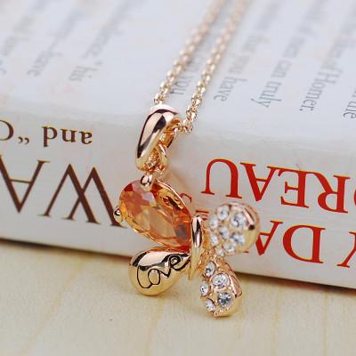 Кулон «Любовь» с цирконием и кристаллами