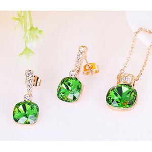 Комплект «Летний сад» с кристаллами Сваровски