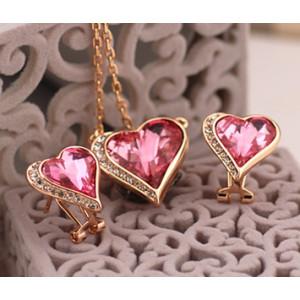 Комплект «Влюбленные сердца» с кристаллами Сваровски