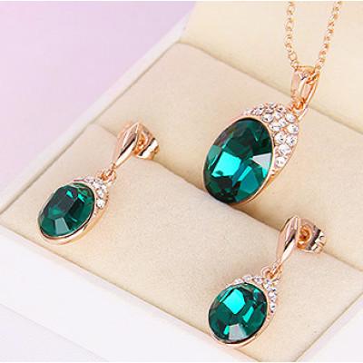 Комплект «Тайна» с кристаллами Сваровски