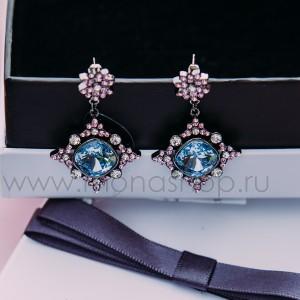 Серьги «1001 ночь» с кристаллами Сваровски