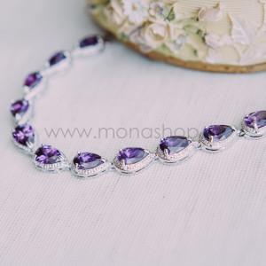 Браслет Селена с фиолетовыми циркониями