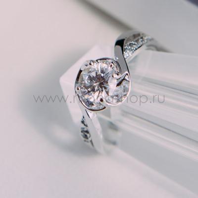 Кольцо Серьезные намерения с цирконием и кристаллами