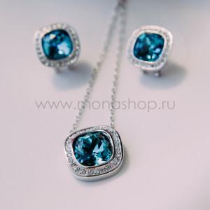 Комплект «Космос» с синими кристаллами Swarovski