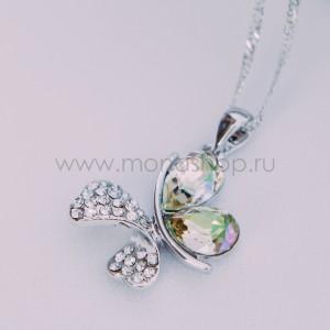 Кулон «Кассандра» с кристаллами Сваровски цвета шампань