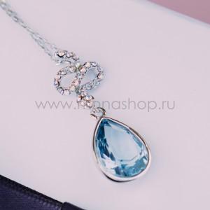 Кулон «Коварство» с голубым кристаллом Сваровски
