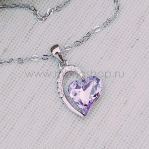 Кулон Олимпия с фиолетовым кристаллом Сваровски