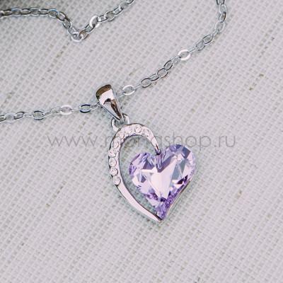Кулон «Олимпия» с фиолетовым кристаллом Сваровски