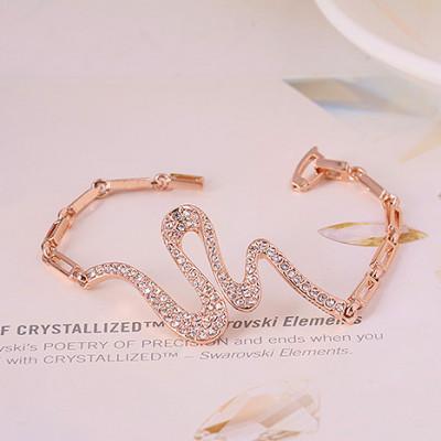 Браслет Змейка с австрийскими кристаллами