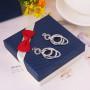 Серьги «Три кольца» с австрийскими кристаллами