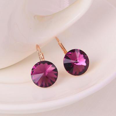 Серьги «Чародейка» с кристаллами Сваровски цвета бордо