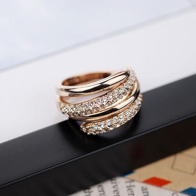 Кольцо двойное «Вместе навсегда», покрытие-золото