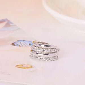 Кольцо двойное «Вместе навсегда», покрытие-родий