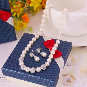 Комплект «Принцесса» с жемчугом и австрийскими кристаллами
