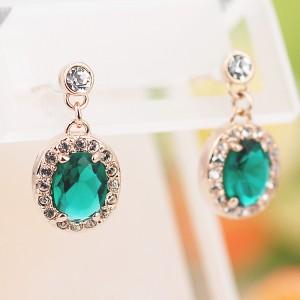 Серьги «Искушение» с зелеными циркониями