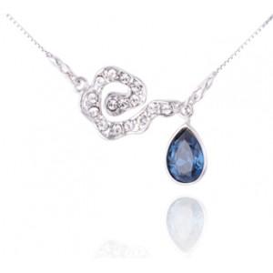 Кулон «Легкая асимметрия» с синим кристаллом Сваровски