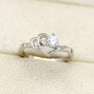 Кольцо «Сокровенные чувства» с белым цирконием