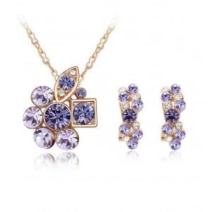 Комплект «Прелесть» с фиолетовыми вставками