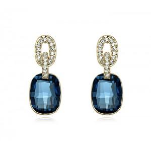Серьги «Элегия» с синими кристаллами Swarovski