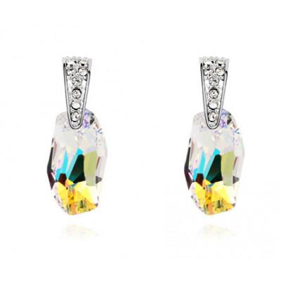 Серьги «Мечта» с кристаллами Сваровски цвета шампань