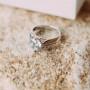 Кольцо «Согласие» с белым цирконием
