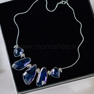 Колье «Тайны океана» с крупными синими камнями
