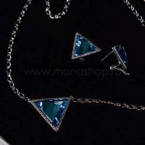 Комплект «Айсберг» с треугольными кристаллами Сваровски