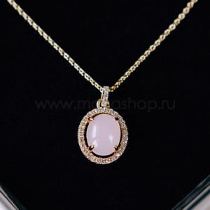 Кулон «Монпасье» розовый с австрийскими кристаллами