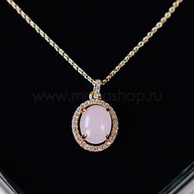 Кулон Монпасье розовый с австрийскими кристаллами