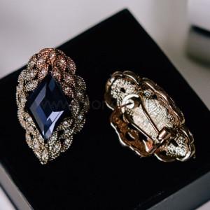 Серьги Маркиза винтажные с австрийскими кристаллами