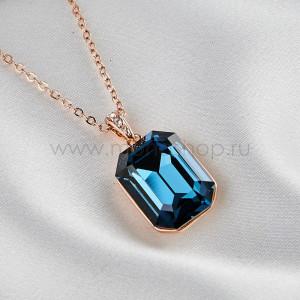 Кулон Сапфировый цвет с синим камнем Сваровски